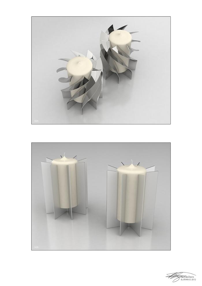 BJRdesigns Template Twist  Candle Holders