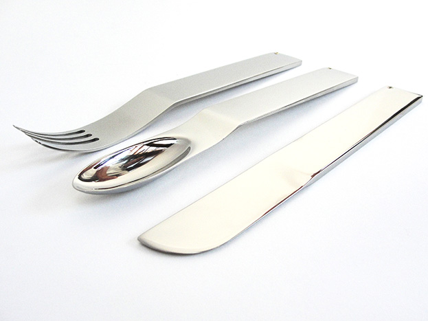 Cutlery Stainless Steel 9ct Gold & Diamonds