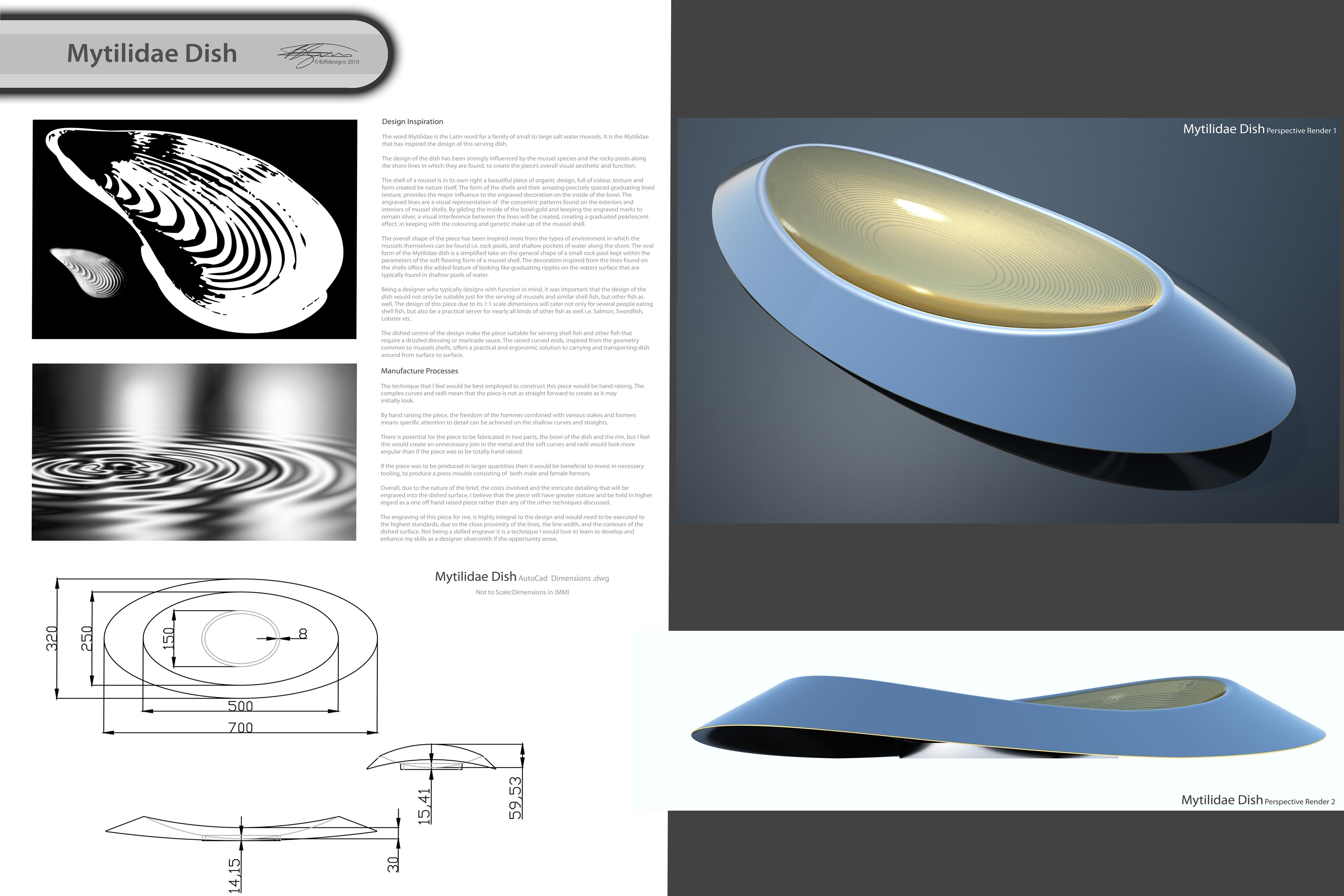 Design Board – Mytilidae Dish – Copyright BJRdesigns