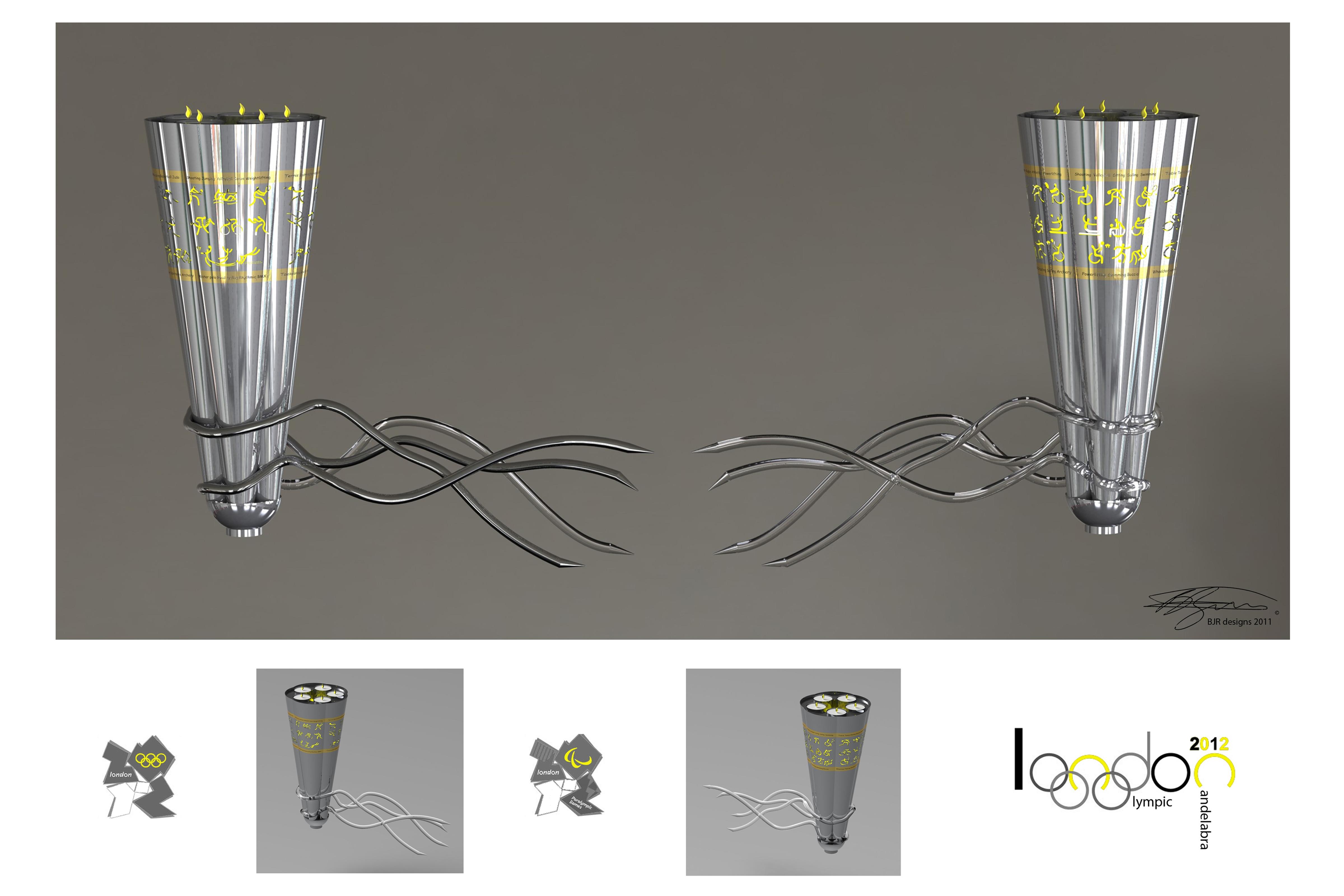 Design Board – Olympic Candelabra 2 – Copyright BJRdesigns