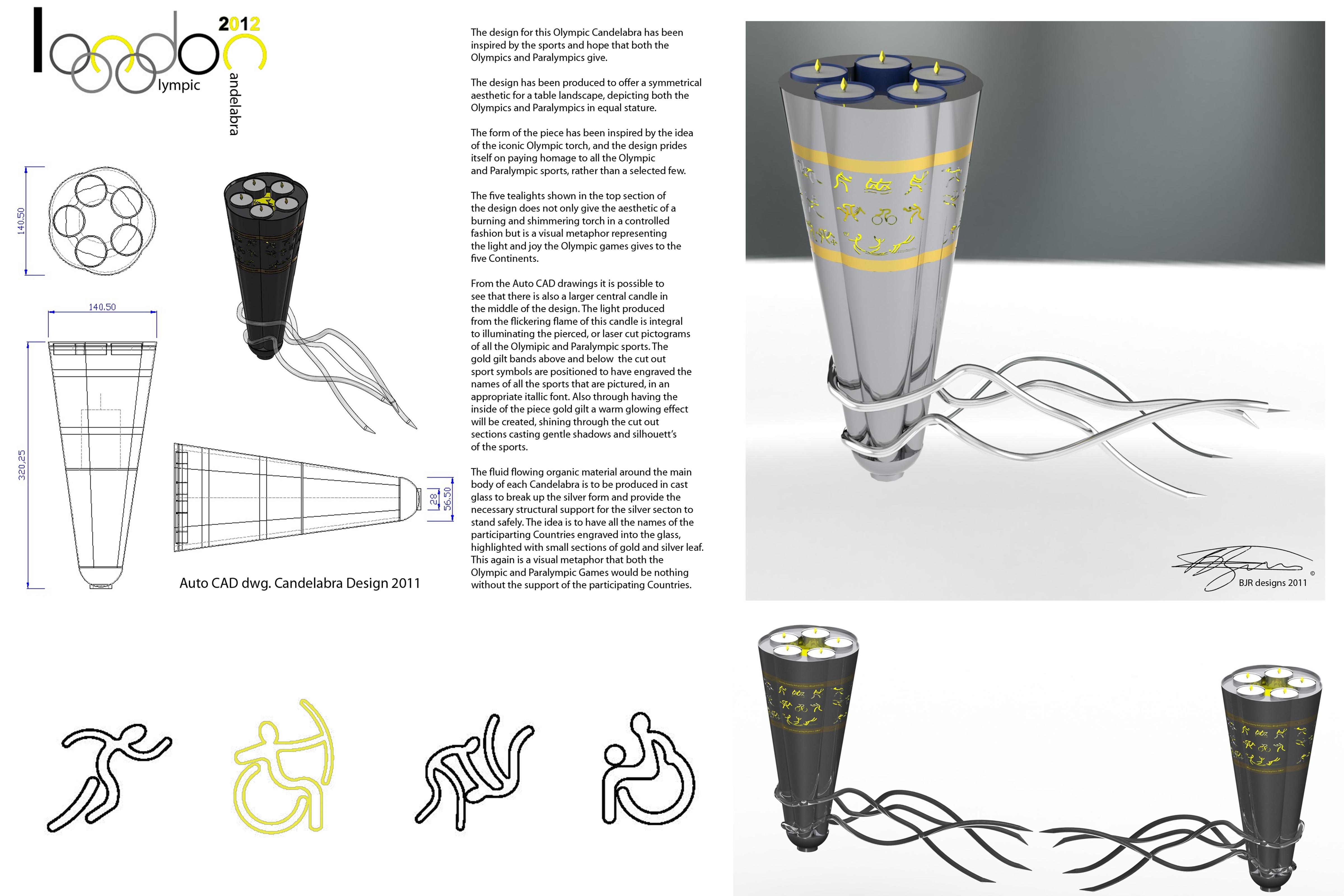 Design Board – Olympic Candelabra – Copyright BJRdesigns