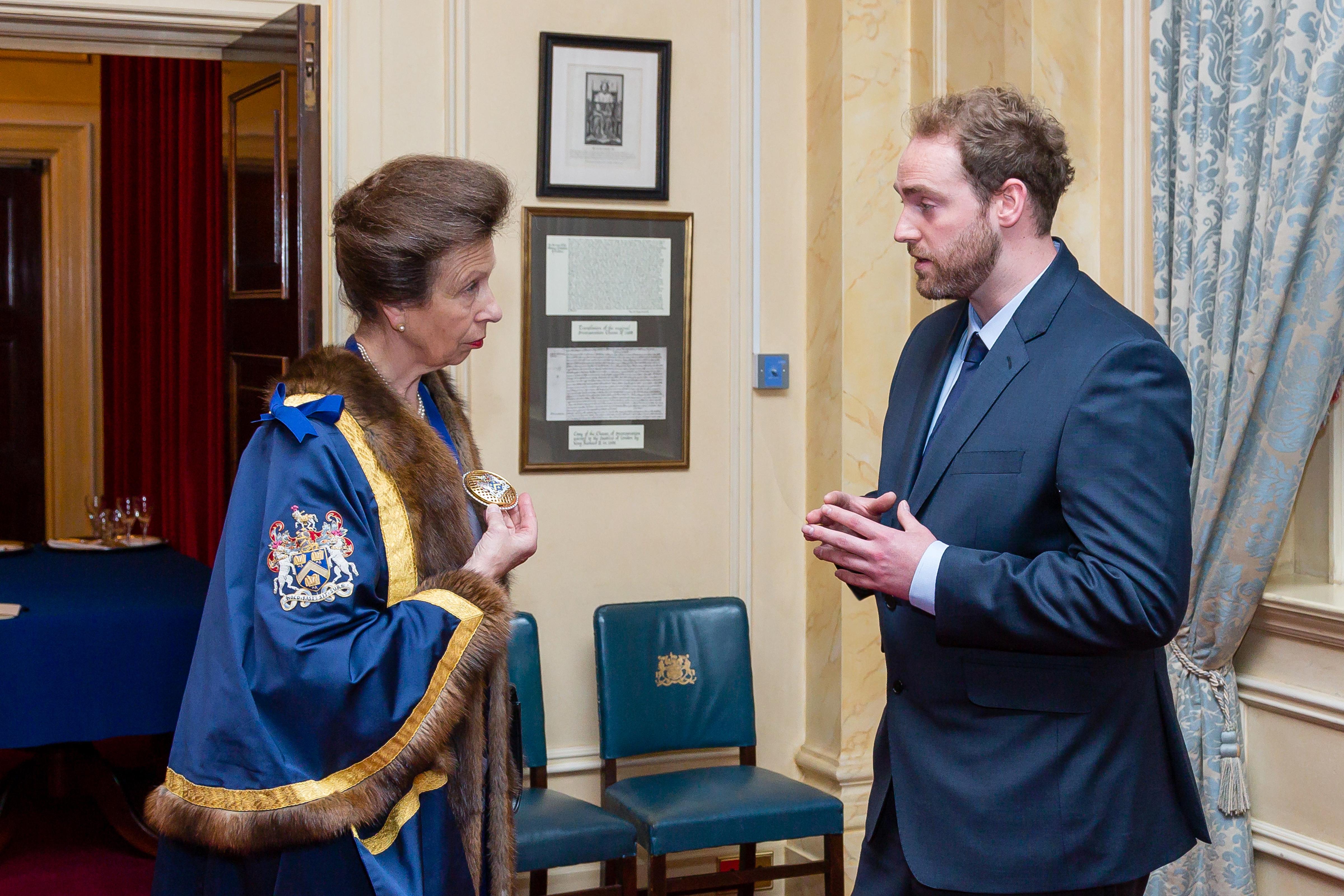 HRH Princess Anne – Ben Ryan – Saddlers Company Perpetual Masters Badge – The Princess Royal – Copyright BJRdesigns