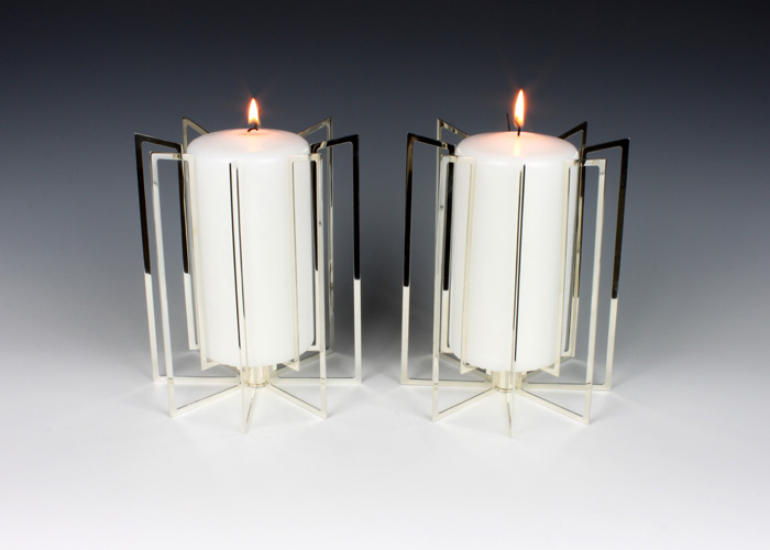 Large Open-Framed Template Pillar Candle Holders