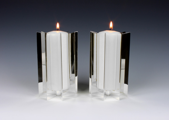 Small Solid Template Pillar Candle Holders