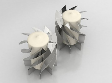 Template Twist Candle Holders