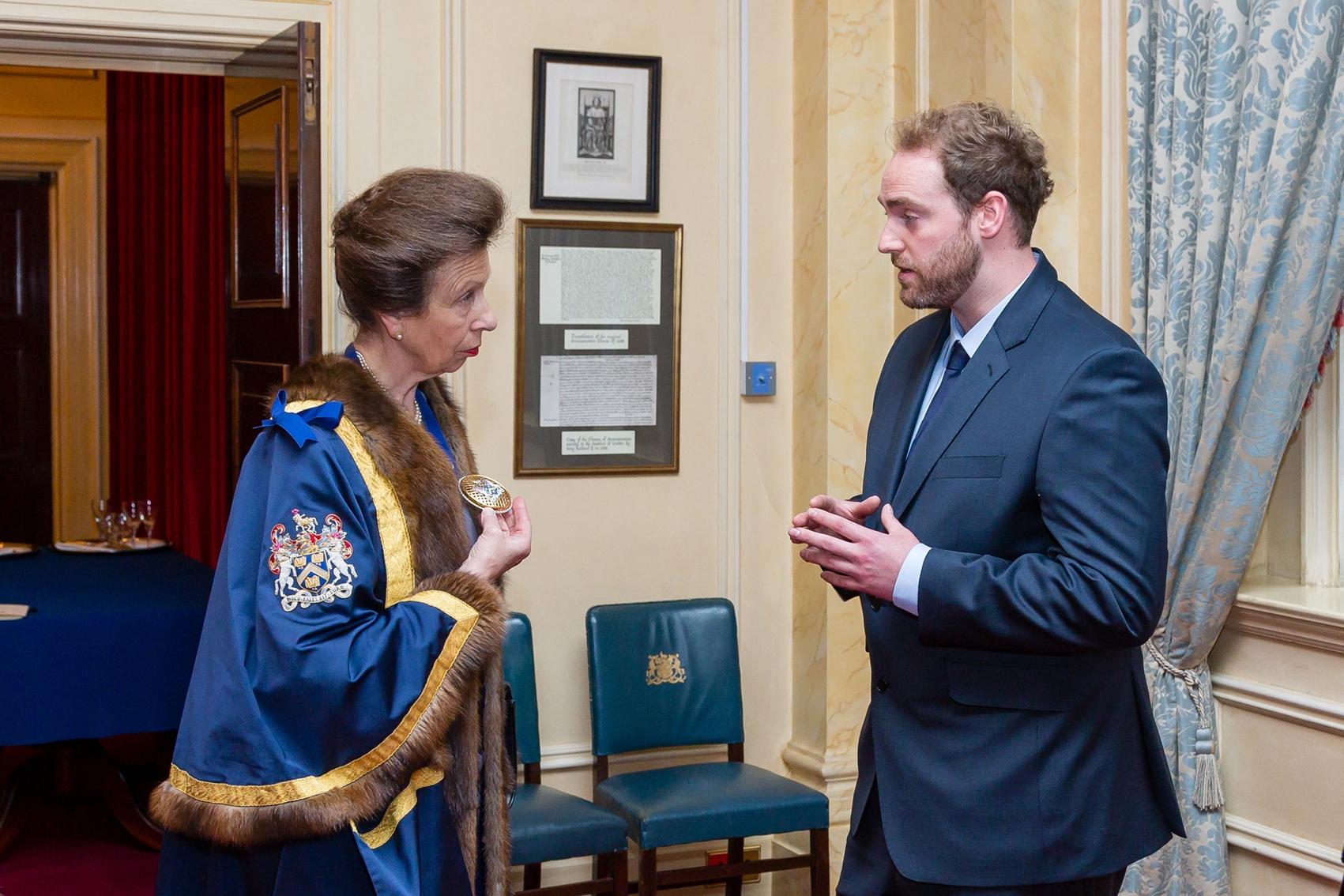 HRH The Princess Royal & Benjamin James Ryan – Photo Credit Mark Witter
