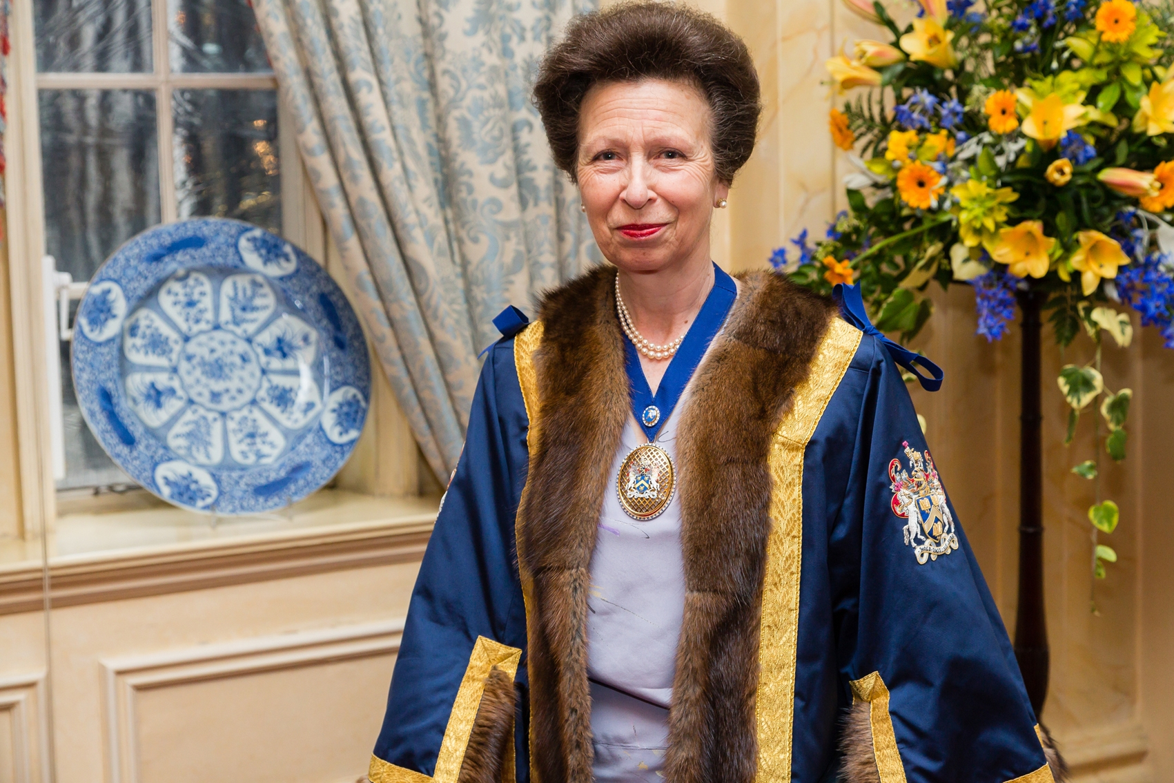 HRH The Princess Royal Wearing The Pertpetual Masters Bage – Photo Credit Mark Witter