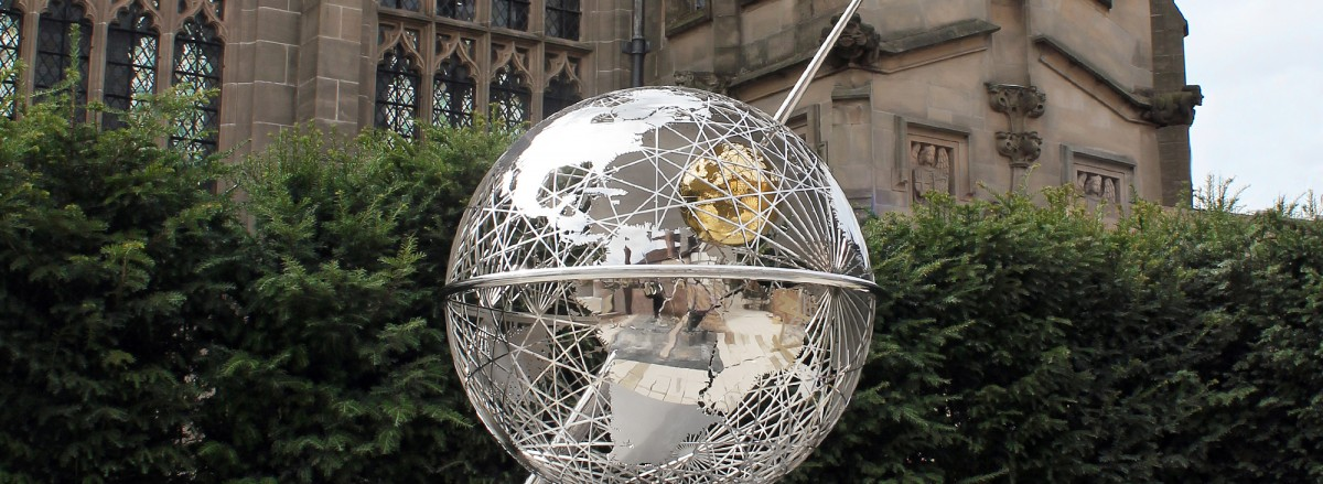 Sculp1, Caption, Terrestrial Sphere At Shakespeare's New Place