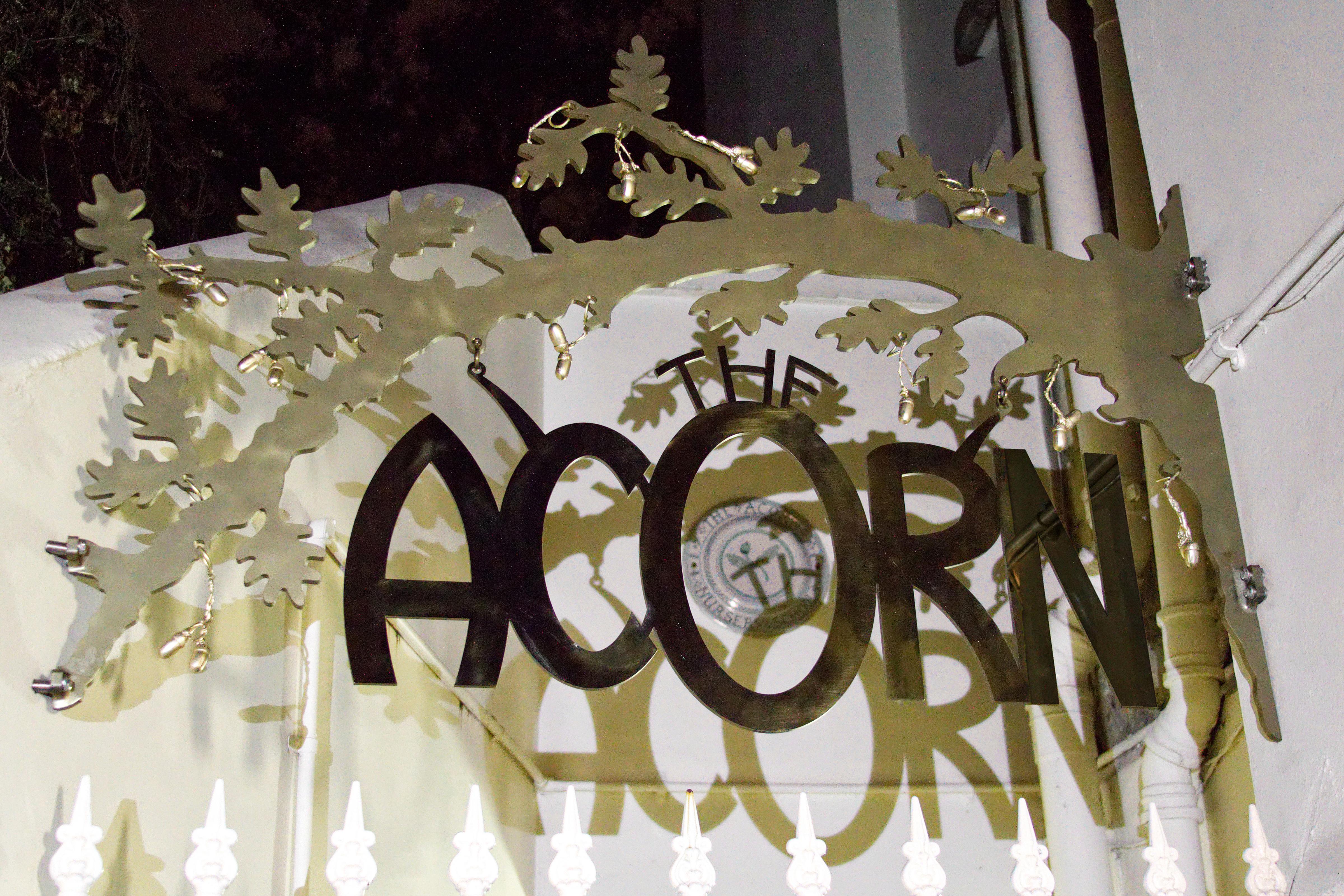 Acorn Sign – Copyright BJRdesigns