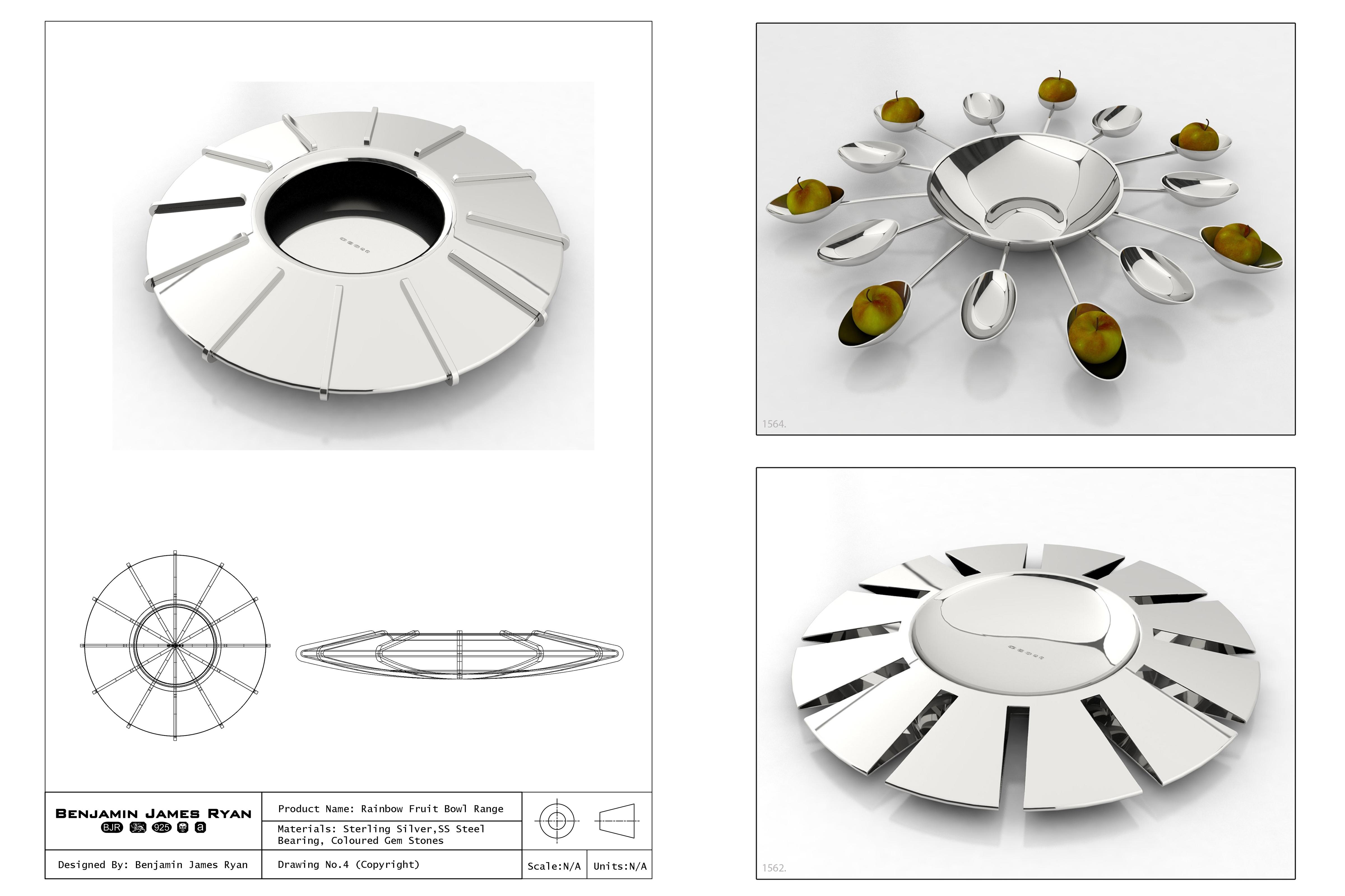 Design Board – Fruit Bowls – Copyright BJRdesigns