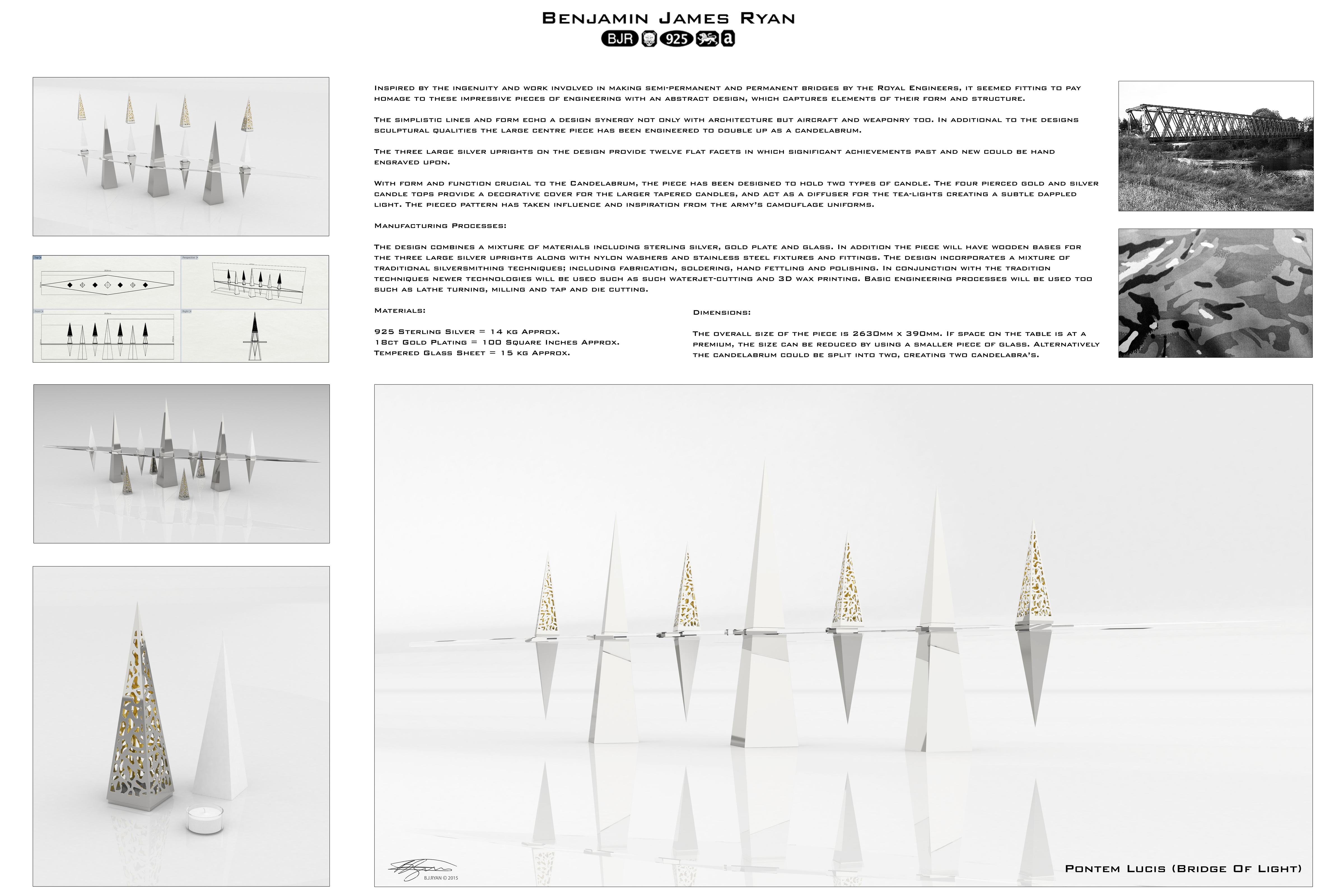Design Board – Royal Engineers Table Centre Piece – Copyright BJRdesigns