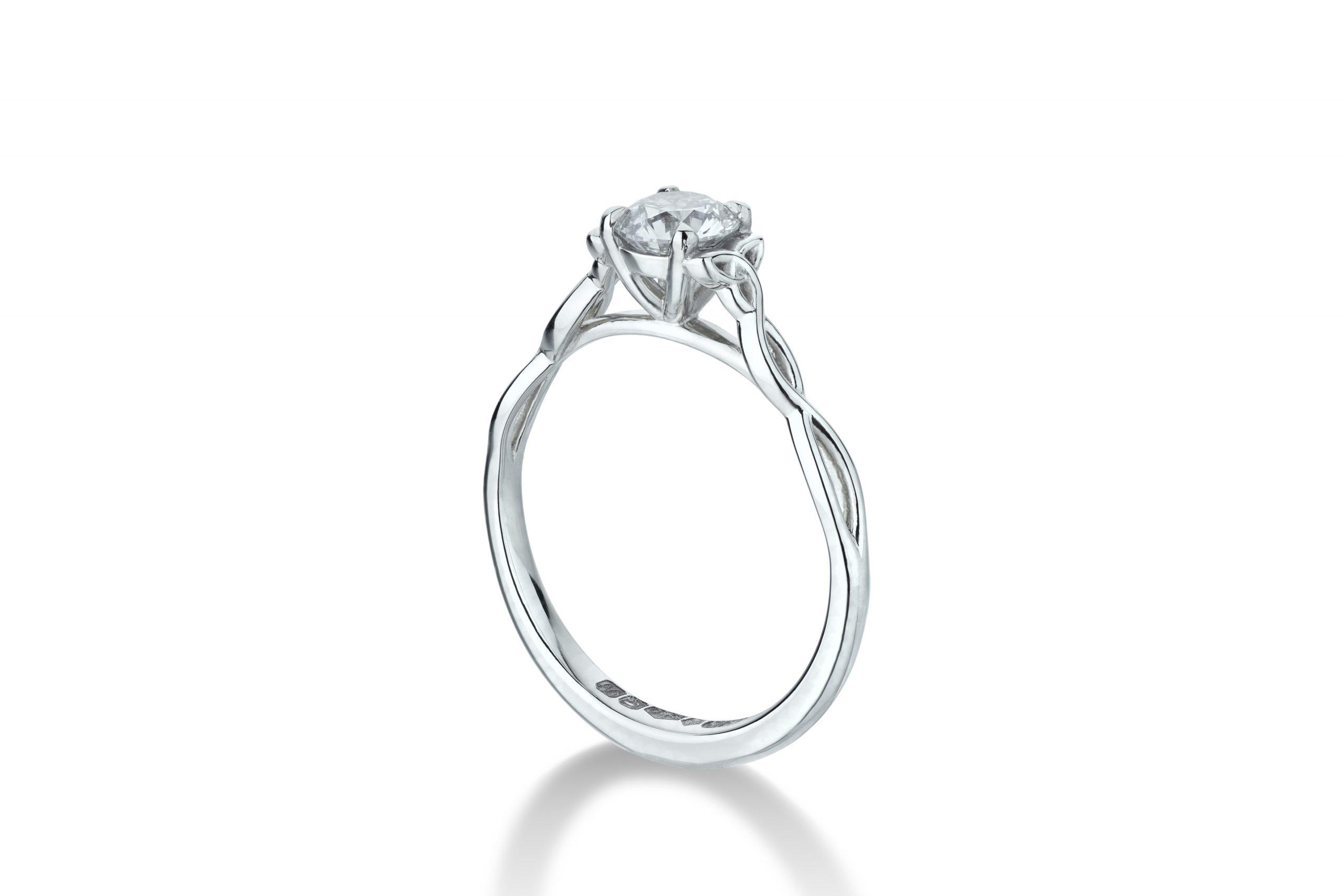 Celtic Knot Engagement Ring 2 – Copyright BJRdesigns