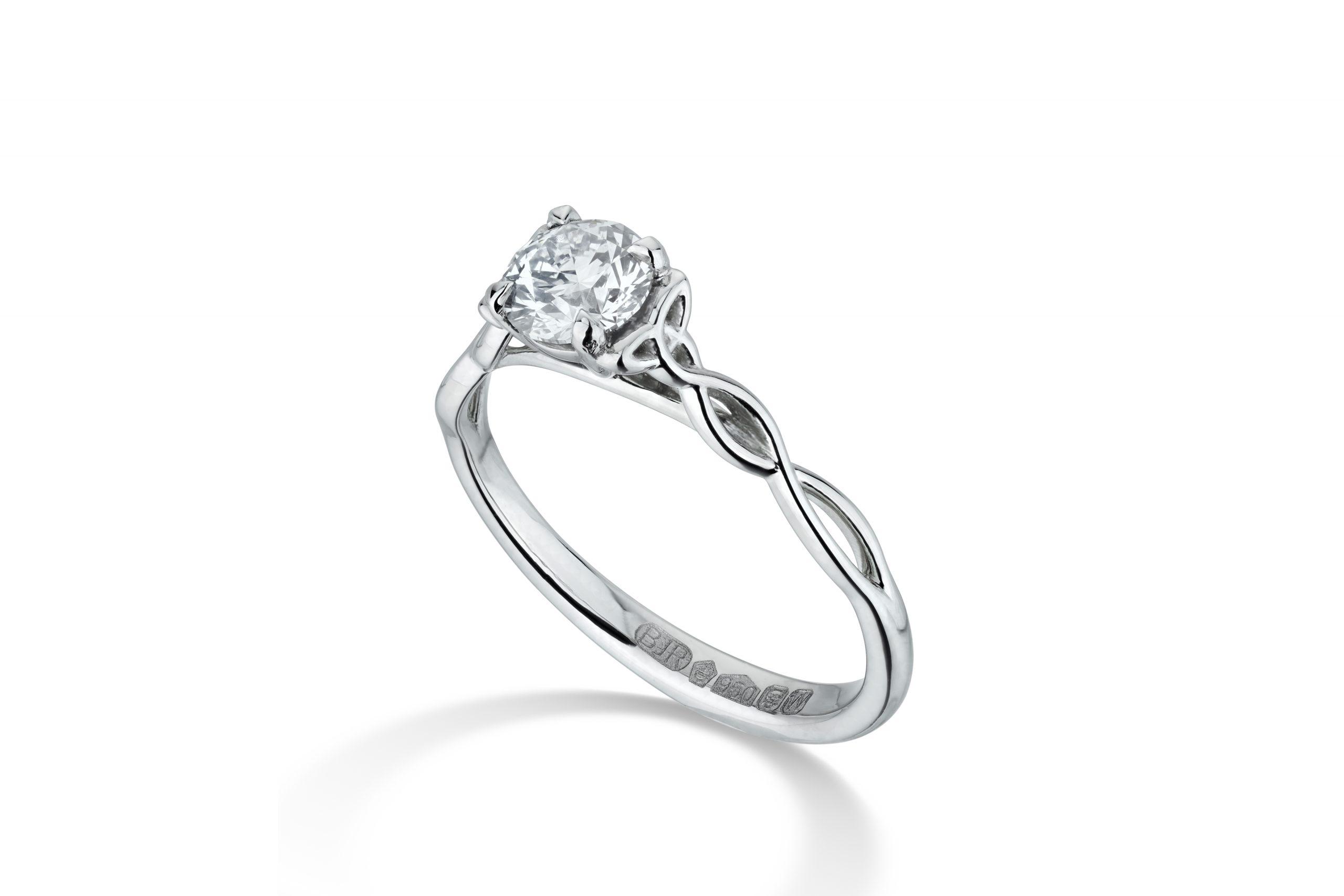 Celtic Knot Engagement Ring – Copyright BJRdesigns